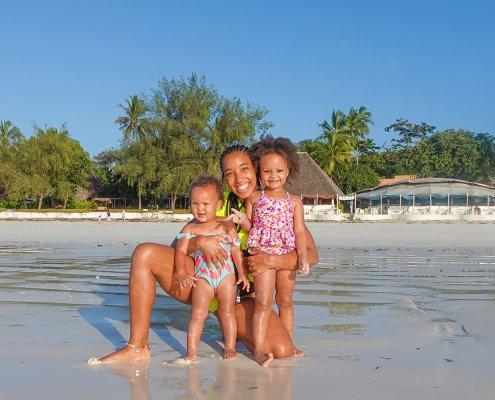 Family fun at Diani Beach