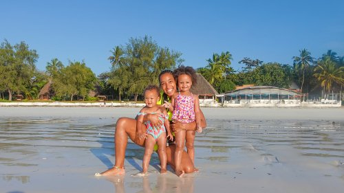 Family fun at Diani Beach